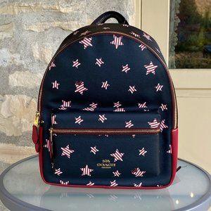 NWT Coach md star Charlie backpack star